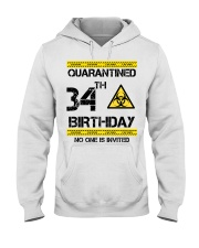 34th Birthday 34 Years Old Hooded Sweatshirt thumbnail