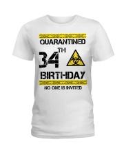 34th Birthday 34 Years Old Ladies T-Shirt thumbnail