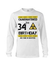 34th Birthday 34 Years Old Long Sleeve Tee thumbnail