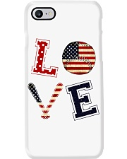 Baseball Lover USA Flag Phone Case thumbnail