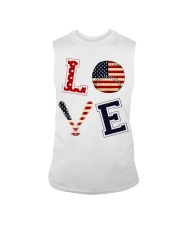 Baseball Lover USA Flag Sleeveless Tee thumbnail