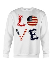 Baseball Lover USA Flag Crewneck Sweatshirt thumbnail