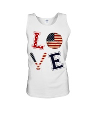Baseball Lover USA Flag Unisex Tank thumbnail