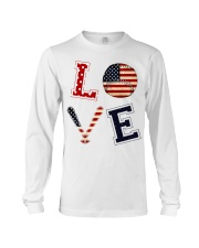 Baseball Lover USA Flag Long Sleeve Tee thumbnail