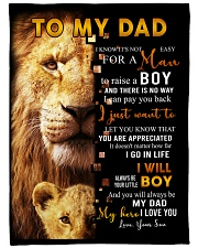 "To My Dad From Son Large Fleece Blanket - 60"" x 80"" front"