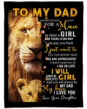 """To My Dad From Daughter Large Fleece Blanket - 60"""" x 80"""" front"""