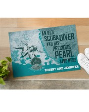 "Scuba Diving An Old Scuba Diver And His Precious Doormat 22.5"" x 15""  aos-doormat-22-5x15-lifestyle-front-11"