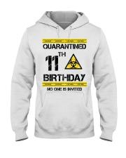 11th Birthday 11 Years Old Hooded Sweatshirt thumbnail