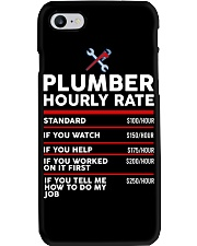 plumber hour shirt Phone Case tile
