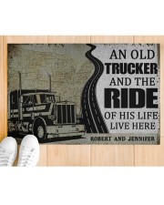 """Trucker An old trucker and the ride of his life  Doormat 22.5"""" x 15""""  aos-doormat-22-5x15-lifestyle-front-03"""