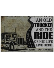 """Trucker An old trucker and the ride of his life  Doormat 22.5"""" x 15""""  front"""