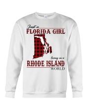 Just An Florida Girl In Rhode island Crewneck Sweatshirt thumbnail