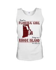 Just An Florida Girl In Rhode island Unisex Tank thumbnail