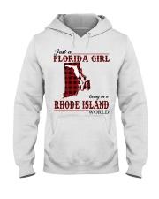 Just An Florida Girl In Rhode island Hooded Sweatshirt thumbnail