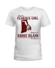 Just An Florida Girl In Rhode island Ladies T-Shirt thumbnail