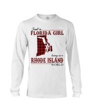 Just An Florida Girl In Rhode island Long Sleeve Tee thumbnail