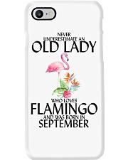 Never Underestimate Old Lady Flamingo September Phone Case thumbnail