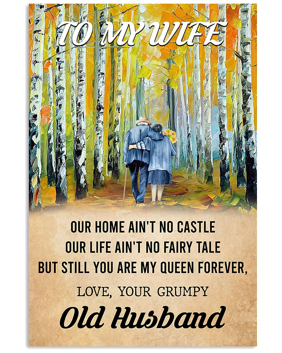To My Wife From Old Husband 24x36 Poster