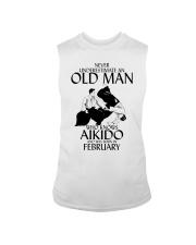 Never Underestimate Old Man Aikido February Sleeveless Tee thumbnail