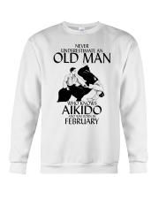 Never Underestimate Old Man Aikido February Crewneck Sweatshirt thumbnail