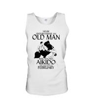 Never Underestimate Old Man Aikido February Unisex Tank thumbnail
