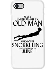Never Underestimate Old Man Snorkeling June Phone Case thumbnail