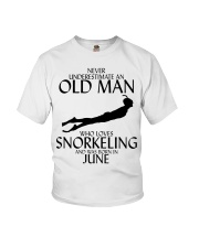 Never Underestimate Old Man Snorkeling June Youth T-Shirt thumbnail