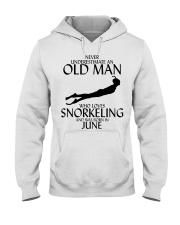 Never Underestimate Old Man Snorkeling June Hooded Sweatshirt thumbnail