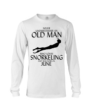 Never Underestimate Old Man Snorkeling June Long Sleeve Tee thumbnail