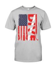 Scuba Diving American Flag Classic T-Shirt front