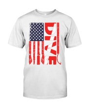 Scuba Diving American Flag Classic T-Shirt tile