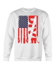Scuba Diving American Flag Crewneck Sweatshirt thumbnail