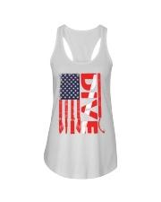 Scuba Diving American Flag Ladies Flowy Tank thumbnail