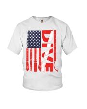 Scuba Diving American Flag Youth T-Shirt thumbnail