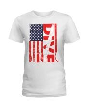 Scuba Diving American Flag Ladies T-Shirt thumbnail