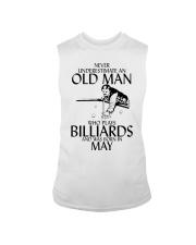 Never Underestimate Old  Man Billiards May Sleeveless Tee thumbnail