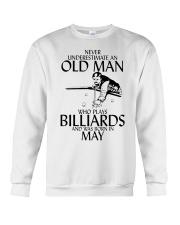Never Underestimate Old  Man Billiards May Crewneck Sweatshirt thumbnail