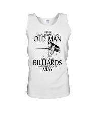 Never Underestimate Old  Man Billiards May Unisex Tank thumbnail
