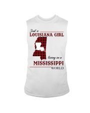 Just A Louisiana Girl In Mississippi World Sleeveless Tee tile