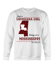 Just A Louisiana Girl In Mississippi World Crewneck Sweatshirt thumbnail
