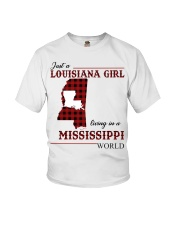 Just A Louisiana Girl In Mississippi World Youth T-Shirt thumbnail