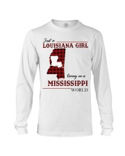 Just A Louisiana Girl In Mississippi World Long Sleeve Tee thumbnail