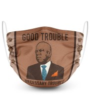 good trouble necessary trouble 2 Layer Face Mask - Single front