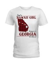 Just A Hawaii Girl In Georgia Ladies T-Shirt tile