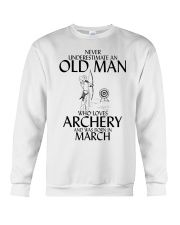 Never Underestimate Old Man Archery March  Crewneck Sweatshirt thumbnail