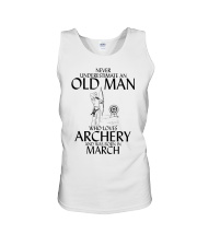 Never Underestimate Old Man Archery March  Unisex Tank thumbnail