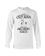 Never Underestimate Old Man Archery March  Long Sleeve Tee thumbnail