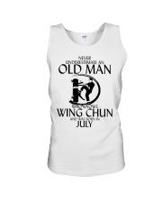 Never Underestimate Old Man Wing Chun July Unisex Tank thumbnail