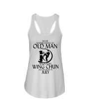 Never Underestimate Old Man Wing Chun July Ladies Flowy Tank thumbnail