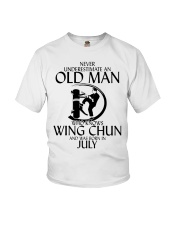 Never Underestimate Old Man Wing Chun July Youth T-Shirt thumbnail